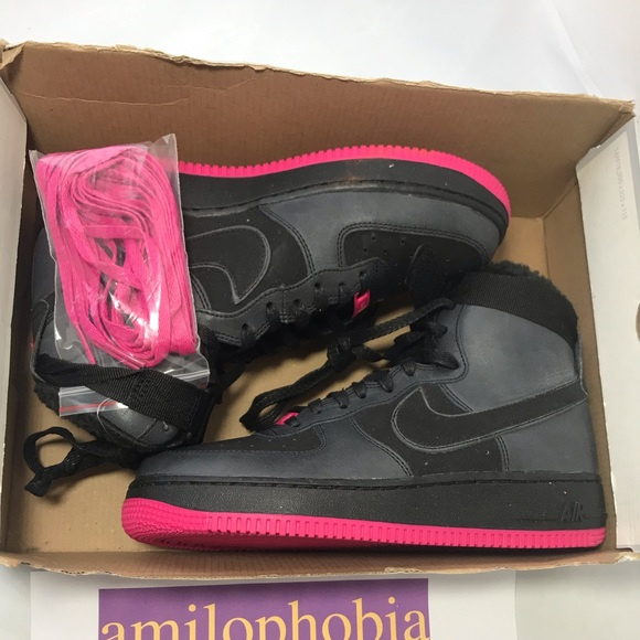 Nike Shoes New Youth Air Force 1 High Lv8 Gs 6y Black Poshmark